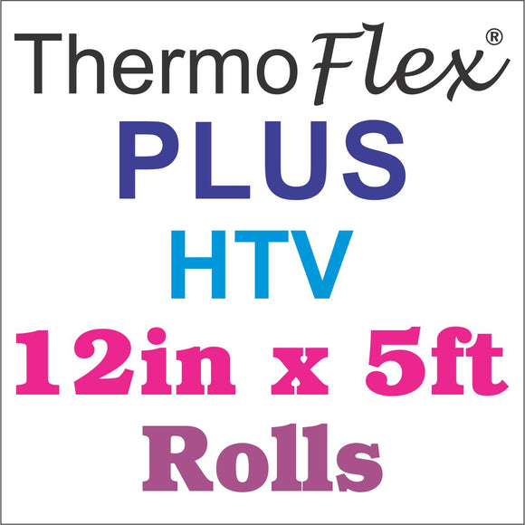 ThermoFlex® Plus HTV 12in x 5ft Rolls - Wholesale Bulk Discount - CraftCutterSupply.com