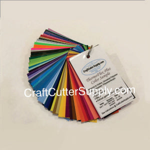 Thermoflex Plus / MetalFlake / DECOFilm Paint fx Color Sample Ring - CraftCutterSupply.com
