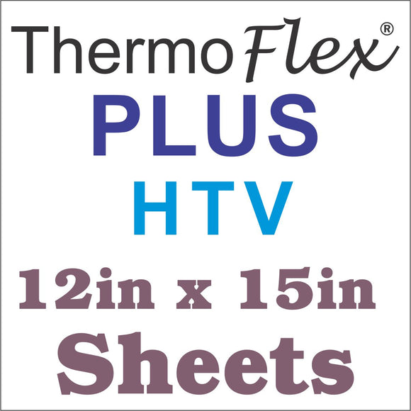 ThermoFlex® Plus HTV 12x15 Sheets - 15+ Sheet Bulk Pricing *Price Per Sheet* - CraftCutterSupply.com