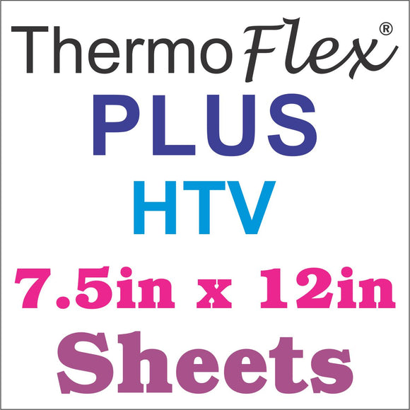 ThermoFlex® Plus HTV 7.5in x 12in Sheets (Clearance Sale) - CraftCutterSupply.com