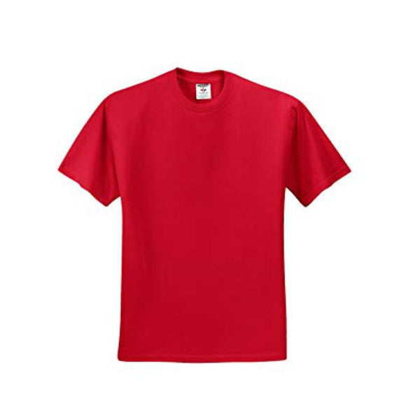 Adult Jerzees Brand 5.6oz 50/50 T-Shirt Color-True Red - CraftCutterSupply.com