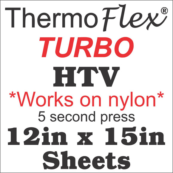Thermoflex® Turbo HTV 12in x 15in Sheets - CraftCutterSupply.com