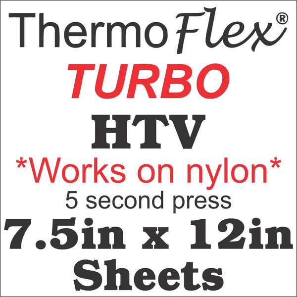 Thermoflex Turbo HTV 7.5in x 12in Sheets - CraftCutterSupply.com