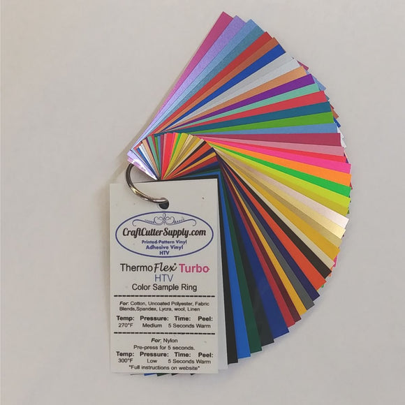 ThermoFlex® Turbo HTV Color Sample Ring - CraftCutterSupply.com