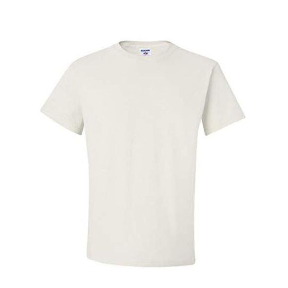 Adult Jerzees Brand 5.6oz 50/50 T-Shirt Color-White - CraftCutterSupply.com