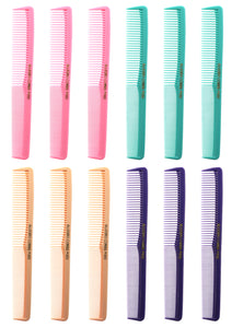 Allegro Combs 400 Barbers Combs Cutting Combs All Purpose Combs Fresh Mix 12 Pk