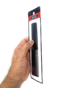 Ace 7 in. All-Purpose Hair Cutting Barber Comb Hard Rubber Tapered Black 1 Pc.