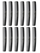 Allegro Combs 415 All Purpose Hair Combs Hair Styling combs Black Combs 12 Pcs.