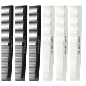 Allegro Combs 420 Set of Barber Comb Hair Cutting Combs Pocket Comb Combs for Hair Stylist and Barbers Styling Comb Multicolor 6 Pc.