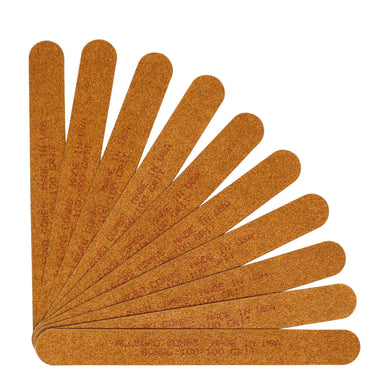 Allegro Combs 7 In. Nail Files Double Sided Wooden Emery Boards For Natural and Acrylic Thin Grits 100,180, 120/240,  10 Pcs.