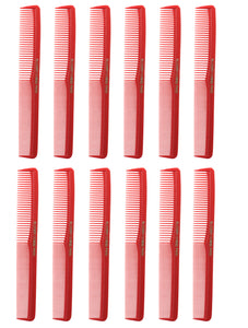 Allegro Combs 400 Barbers Combs Cutting Combs All Purpose Combs. Red combs. 12 Pack