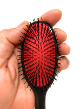 Denman D80S Hair Extension Brush Detangling Natural and Synthetic Hair Extensions, Wigs, Black.