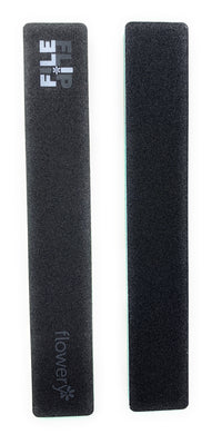 Flowery 2 in 1 Nail File and Nail Buffer 150-180/300 Grit Natural Nail Black Green 2 Pc.