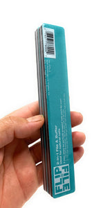 Flowery 2 in 1 Nail File and Nail Buffer 150-180/300 Grit Natural Nail Blue Black 2 Pc.