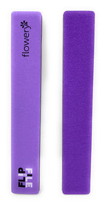 Flowery 2 in 1 Nail File and Nail Buffer 150-180/300 Grit Natural Nail Purple Black 2 Pc.