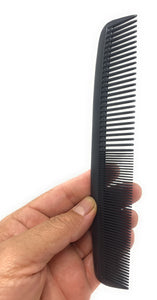 Krest 8.5 Inch 1000 Specialty Hair Combs Round Master Waver Cutting Comb Black 1pc.