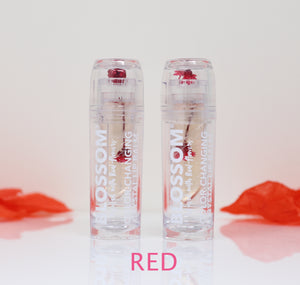 Blossom Color-Changing Crystal Lip Balm Moisturizes Dry Lips Lip Gloss Colors 3g 2 Pc.