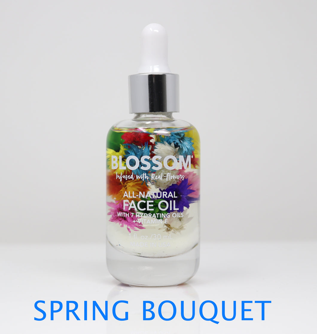 Blossom 100% All-Natural & Hydrating Face Oil 9 Essential Plant & Flower Oils 1 Oz. 1 Pc.
