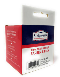 Scalpmaster Barber Brush 100% Boar Bristle Loop Handle Cleans Blades and Combs 1 Pc.