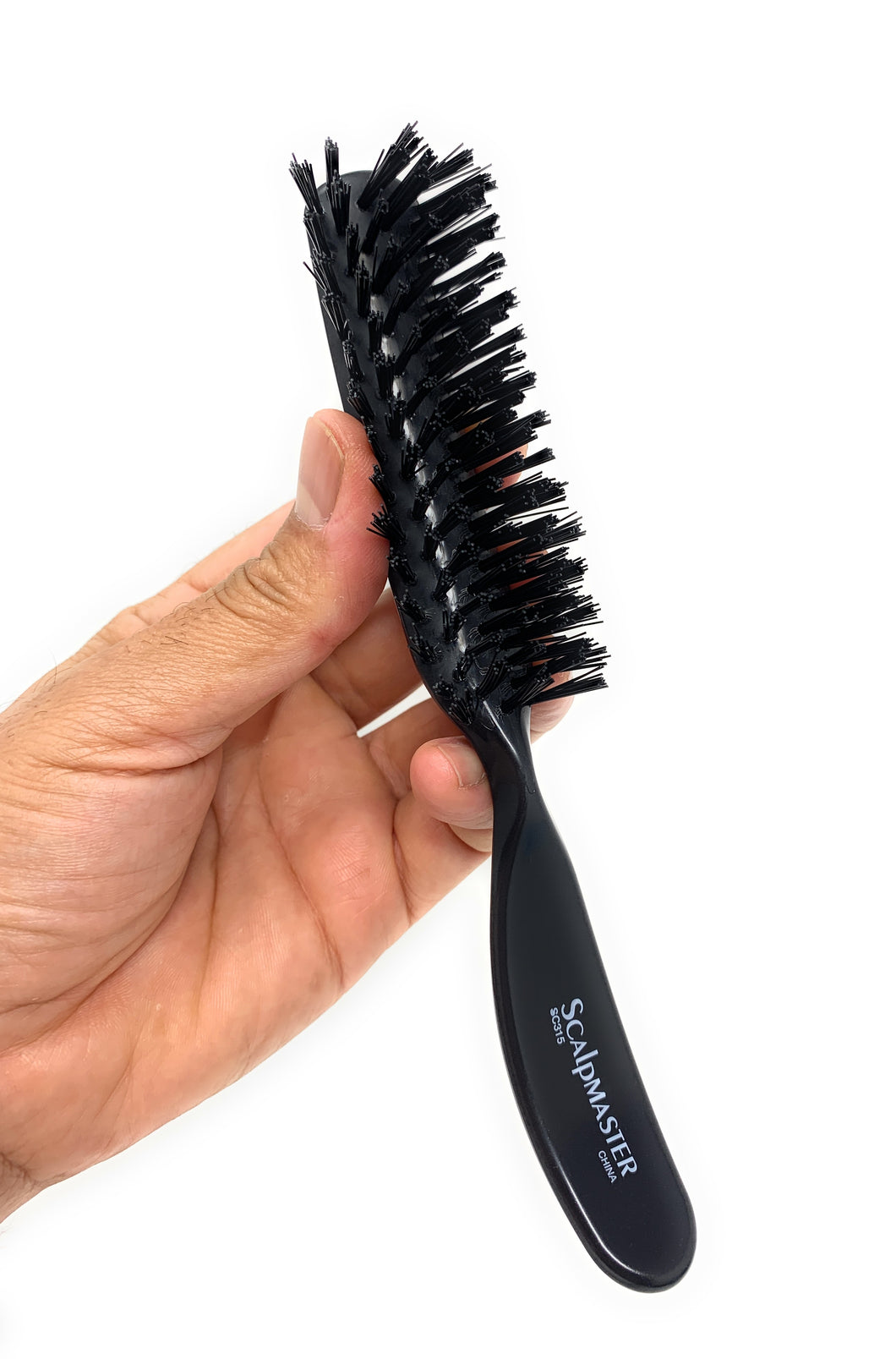 Scalpmaster Nylon Bristle Brush Nylon Bristle Salon Brush Hair Brush 7 Rows