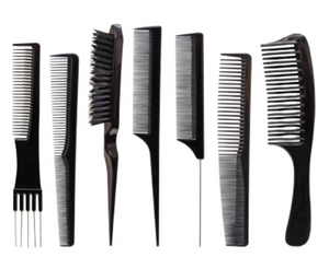 Scalpmaster Set of Combs and Brush Set Professional combs and Brush 7 pcs.