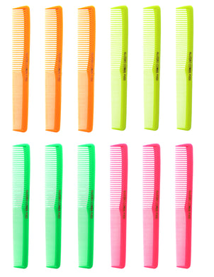 Allegro Combs 400 Barbers Combs Cutting Combs All Purpose Combs. Neon Mix 12 Pk