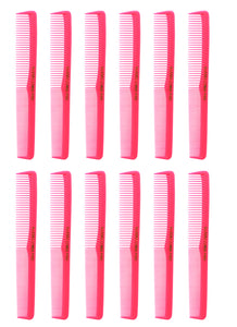 Allegro Combs 400 Barbers Combs Cutting Combs All Purpose Combs. Neon Pink Combs. 12 Pk