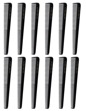 Allegro Combs 450 Barber Combs Hair Cutting Combs Tapered Combs. Black Combs. 12 Pack