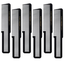Allegro Combs 9000 Clipper Cutting Combs Blending Combs Fading Combs. Black Combs 6 Pk.