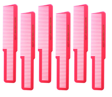 Allegro Combs 9000 Clipper Cutting Combs Blending Combs Fading Combs Neon Pink 6 Pk.