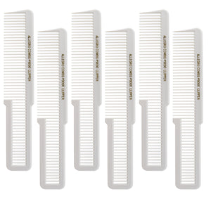 Allegro Combs 9000 Clipper Cutting Combs Blending Combs Fading Combs. White Combs 6 Pk.