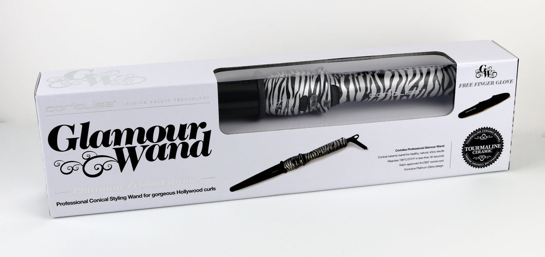 Corioliss Professional Conical Curling wand Tourmaline Ceramic Barrel.