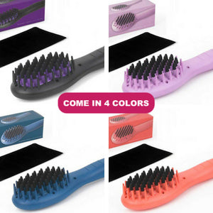 Corioliss Hair Straightening Mini Hot Brush. With Protective Pouch. Travel Model.