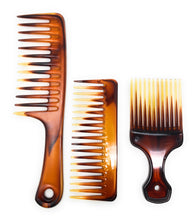 Scalpmaster Comb Set Combs With Handles Pik Comb Wet Comb Detangling Comb 3 Pcs