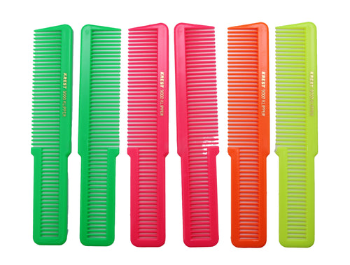 8 Inch Clipper Hair Cutting Comb. Styling Comb. Klipper Comb. Neon Mix Color. 6 Combs