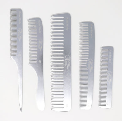 Krest Professional Metal Combs Aluminum Combs 100% Hand-Finished.