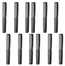 Krest Combs 7 In. All Purpose Hair Comb. Flat Back Styler Comb. Numbered. 1 DZ.