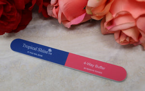 Tropical Shine 4-Way Nail Buffer. Nail Files.
