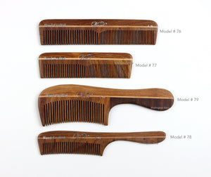 Krest Wooden Combs Hand Made Wood Combs Natural Hair Combs Hair Combs Styler Wood Combs 1 Pc.