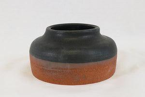 Matte Black Short Vase in Terracotta
