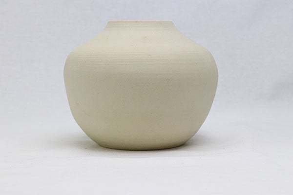 Medium Curved Vase in Natural, Raw Clay