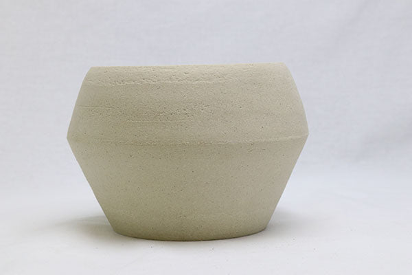 Unglazed Raw White Clay Pot