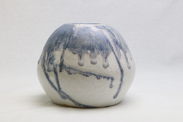 Blue on White Drippy Vase