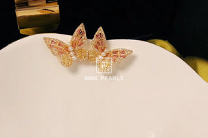 Zirconia Butterfly Studs Earrings