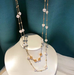 Wild Baroque Pearl Long Necklace