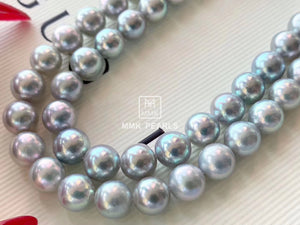 8.0-8.5mm Japanese Akoya Gray Pearl Single String Necklace
