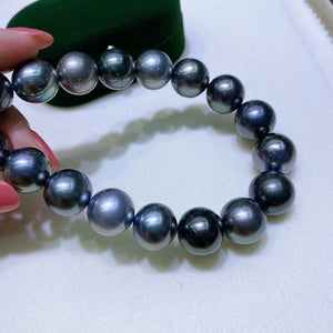 12-15mm Multicolor Tahitian Pearl Single String Necklace