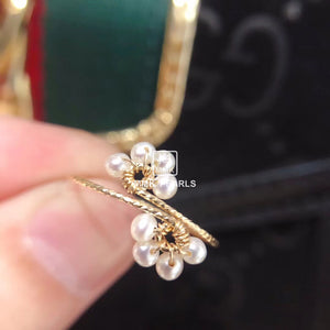 Plum Blossom Pearl Ring 14K Gold Filled