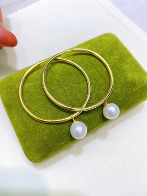 Two-In-One Medium Hoop Statement Earrings