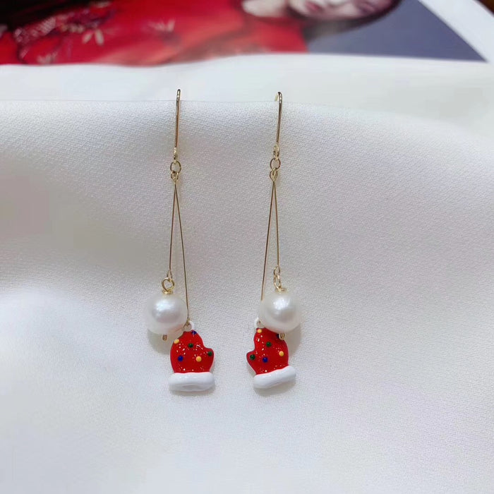 Christmas Mittens Statement Earrings